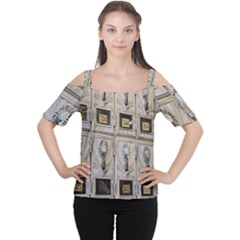 Post Office Old Vintage Building Women s Cutout Shoulder Tee