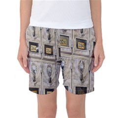 Post Office Old Vintage Building Women s Basketball Shorts