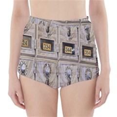 Post Office Old Vintage Building High Waisted Bikini Bottoms