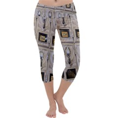 Post Office Old Vintage Building Capri Yoga Leggings