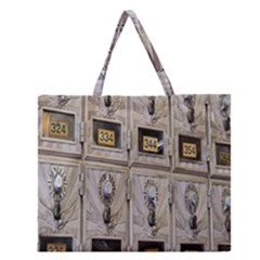 Post Office Old Vintage Building Zipper Large Tote Bag