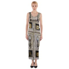 Post Office Old Vintage Building Fitted Maxi Dress