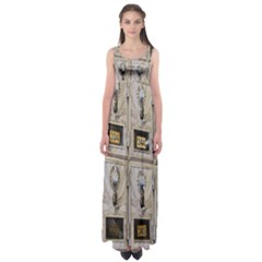 Post Office Old Vintage Building Empire Waist Maxi Dress