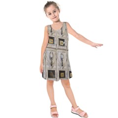 Post Office Old Vintage Building Kids  Sleeveless Dress