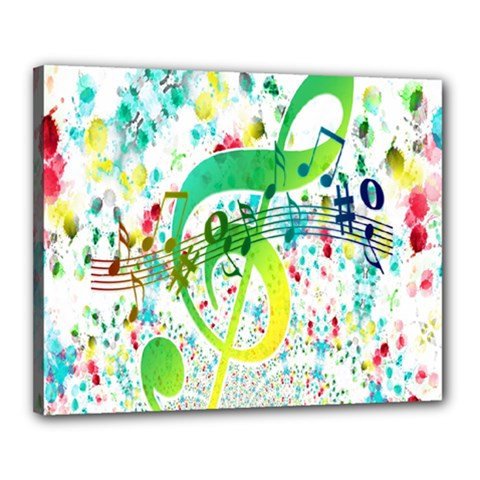 Points Circle Music Pattern Canvas 20  X 16