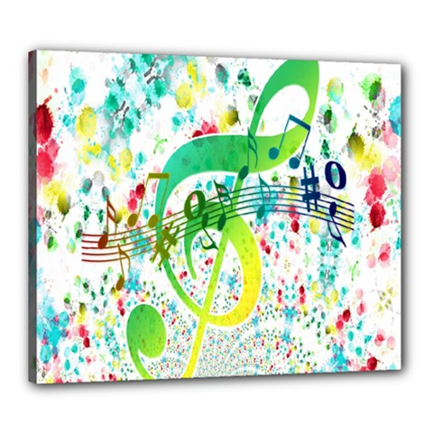 Points Circle Music Pattern Canvas 24  X 20