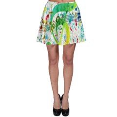 Points Circle Music Pattern Skater Skirt