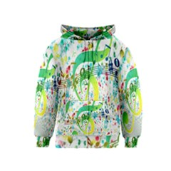 Points Circle Music Pattern Kids  Zipper Hoodie