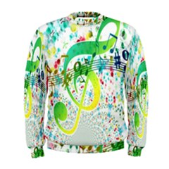 Points Circle Music Pattern Men s Sweatshirt