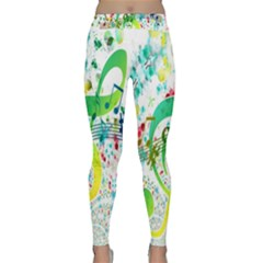 Points Circle Music Pattern Classic Yoga Leggings