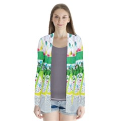 Points Circle Music Pattern Cardigans