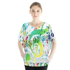 Points Circle Music Pattern Blouse
