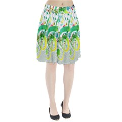 Points Circle Music Pattern Pleated Skirt