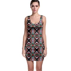 Plot Texture Background Stamping Sleeveless Bodycon Dress