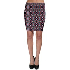 Plot Texture Background Stamping Bodycon Skirt