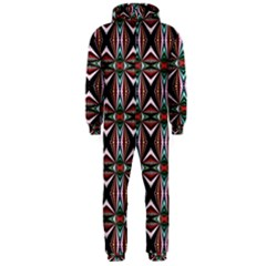Plot Texture Background Stamping Hooded Jumpsuit (men)