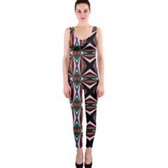 Plot Texture Background Stamping OnePiece Catsuit