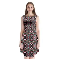 Plot Texture Background Stamping Sleeveless Chiffon Dress