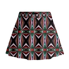Plot Texture Background Stamping Mini Flare Skirt