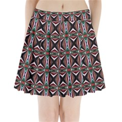 Plot Texture Background Stamping Pleated Mini Skirt