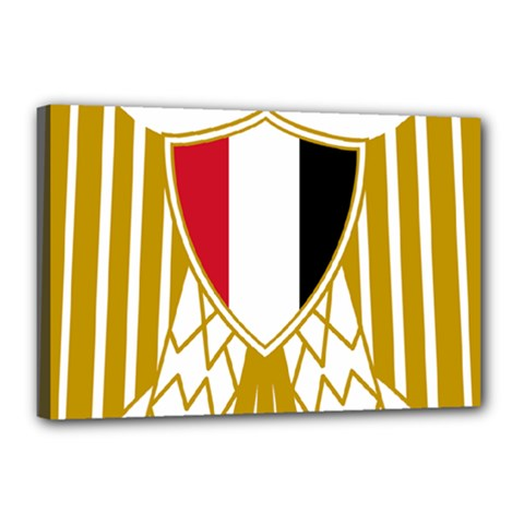 Coat Of Arms Of Egypt Canvas 18  X 12