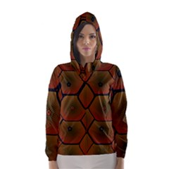 Psychedelic Pattern Hooded Wind Breaker (Women)