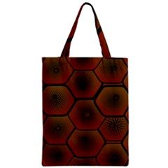 Psychedelic Pattern Zipper Classic Tote Bag