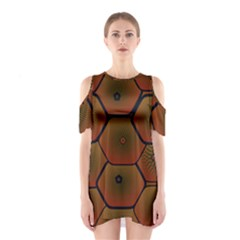 Psychedelic Pattern Shoulder Cutout One Piece