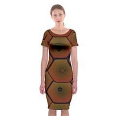 Psychedelic Pattern Classic Short Sleeve Midi Dress