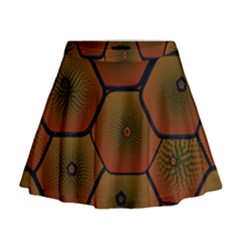 Psychedelic Pattern Mini Flare Skirt