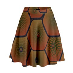 Psychedelic Pattern High Waist Skirt