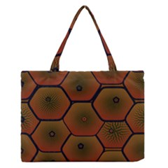 Psychedelic Pattern Medium Zipper Tote Bag
