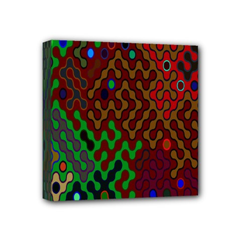Psychedelic Abstract Swirl Mini Canvas 4  x 4