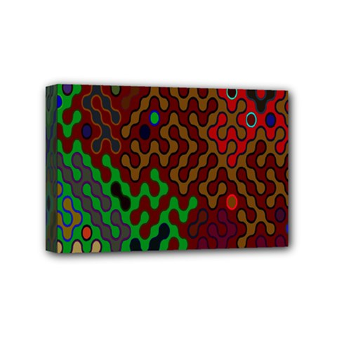 Psychedelic Abstract Swirl Mini Canvas 6  X 4