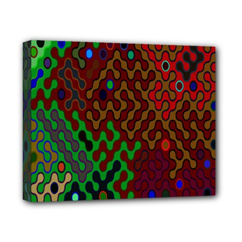 Psychedelic Abstract Swirl Canvas 10  x 8