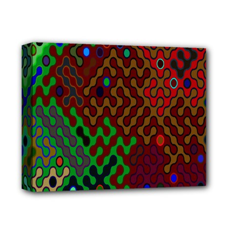 Psychedelic Abstract Swirl Deluxe Canvas 14  X 11