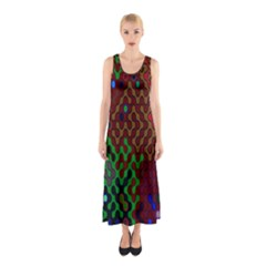 Psychedelic Abstract Swirl Sleeveless Maxi Dress