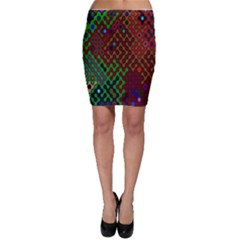 Psychedelic Abstract Swirl Bodycon Skirt