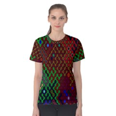 Psychedelic Abstract Swirl Women s Cotton Tee