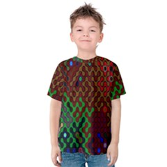 Psychedelic Abstract Swirl Kids  Cotton Tee