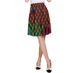 Psychedelic Abstract Swirl A-Line Skirt