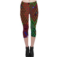 Psychedelic Abstract Swirl Capri Leggings