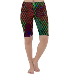 Psychedelic Abstract Swirl Cropped Leggings