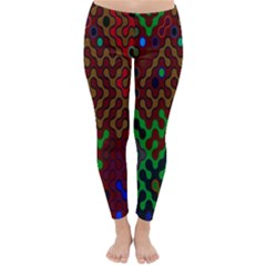 Psychedelic Abstract Swirl Classic Winter Leggings