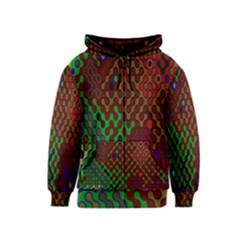 Psychedelic Abstract Swirl Kids  Zipper Hoodie