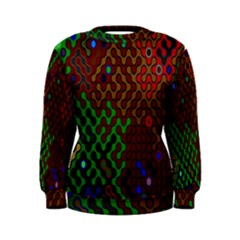 Psychedelic Abstract Swirl Women s Sweatshirt