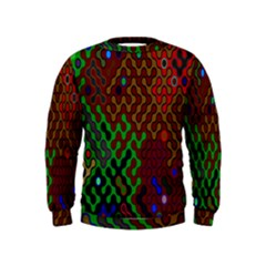 Psychedelic Abstract Swirl Kids  Sweatshirt