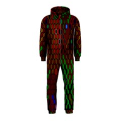 Psychedelic Abstract Swirl Hooded Jumpsuit (kids)