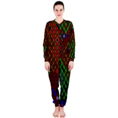 Psychedelic Abstract Swirl Onepiece Jumpsuit (ladies)