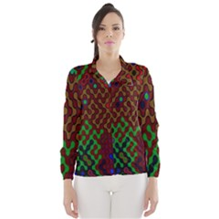 Psychedelic Abstract Swirl Wind Breaker (Women)